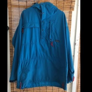Patagonia men's blue teal Anorak Jacket 80s 90s
